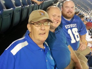 The Moore Boys at a Football Game