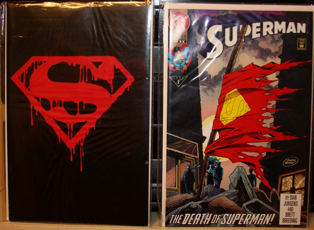Superman 75 1st and 2nd print from my collection.